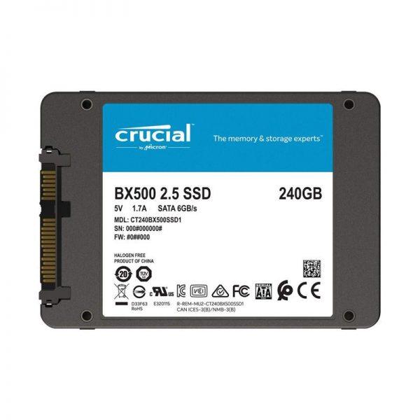 Ổ Cứng SSD Crucial BX500 3D NAND SATA III 2.5 inch 240GB CT240BX500SSD1