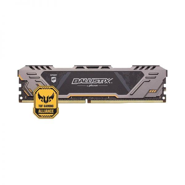 Ram PC Crucial Ballistix Sport AT 8GB Bus 3000 DDR4 BLS8G4D30CESTK (Black)